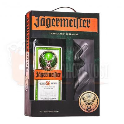 Jägermeister  darčekový set  XXL1,75l 35%