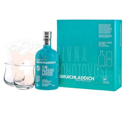 Bruichladdich Classic Laddie 2 poháre darčekový set  50% 0,7 l