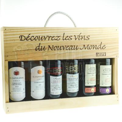 Kolekcia vína v drevenom obale 6x 0,25l