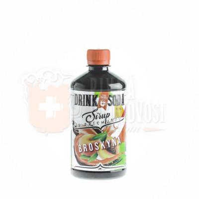 DrinkSoda Sirup s príchuťou Broskyňa 0,5l