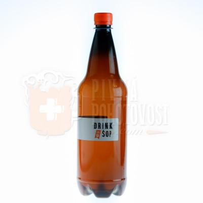 Krakonoš 10°svetlé 3,9% 1L , čapované pivo