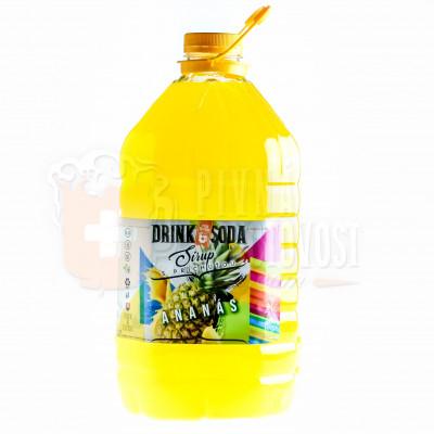 DrinkSoda Sirup s príchuťou Ananás 5L