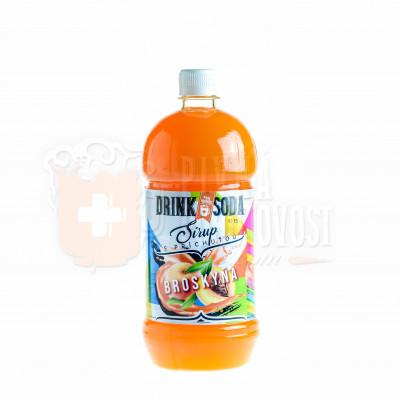 DrinkSoda Sirup s príchuťou Broskyňa 1L