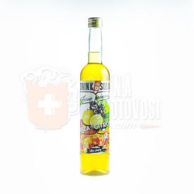 DRINKSODA sirup Baza & Citrón 0,5l