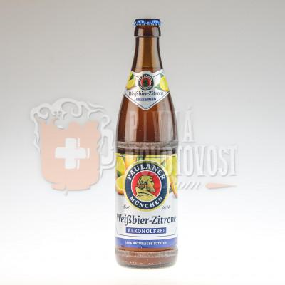 Paulaner Hefe Weissbier Alkoholfrei Zitrone 0,5l sklo
