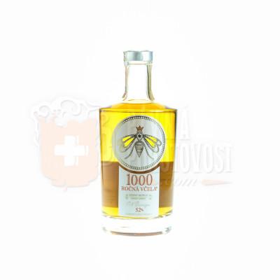 1000 ročná včela medový destilát 52% 0,7l