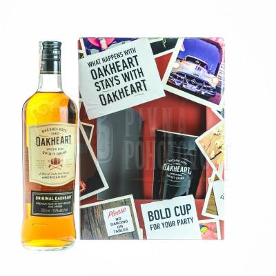 Bacardi Oakheart 0,7 35% darčekový set s pohárom