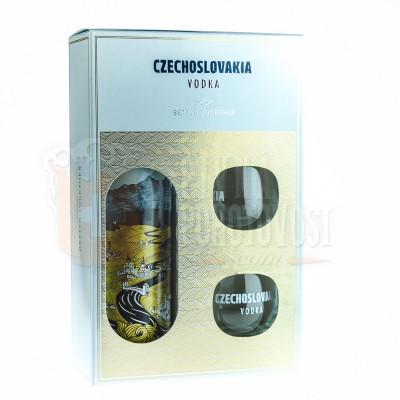 Czechoslovakia Vodka darčekový set + 2 poháre 0,7l 40%