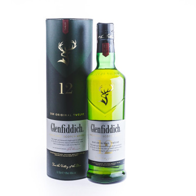 Glenfiddich, 12 years old Whisky, 0,7L,40%