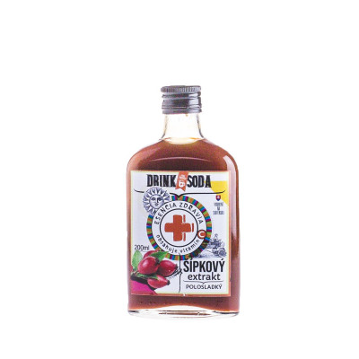 DrinkSoda Šípkový extrakt polosladký 0,2l