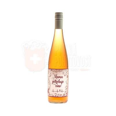 Mama potrebuje víno, Frankovka modrá Rosé 12%, 0,75l