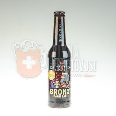 Brokát Dark Lager 13°-tmavé pivo typu lager 0,33l sklo