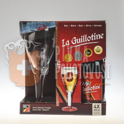 La Guillotine darčekový set 4 x 0,33 l sklo