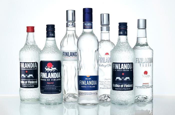 Finlandia vodka bottles